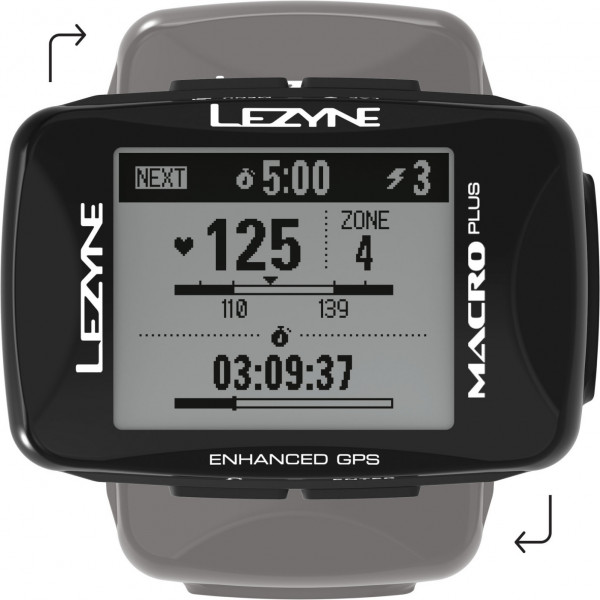 Lezyne Macro Plus GPS Unit, Usb Charger C Cable Included. Includes Mount for Handle Bar