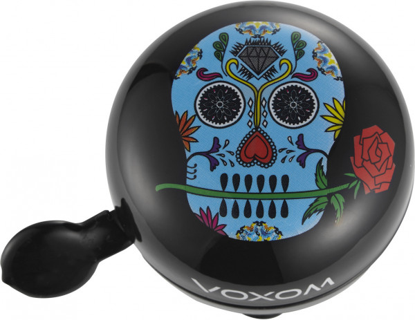 Voxom Bicycle Bell KL22 Skull Black