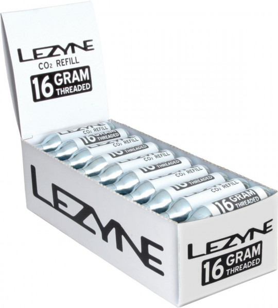Lezyne Display Box CO2 Replacement cartridges (16g)